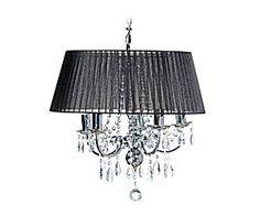 Lámpara de techo en metal y vidrio Osumi – negro
