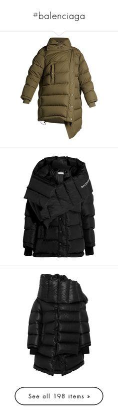 """#balenciaga"" by stylemeup-649 ❤ liked on Polyvore featuring outerwear, coats, jackets, balenciaga, coats & jackets, balenciaga coat, feather coat, oversized coat, oversized quilted coat and shell coat"