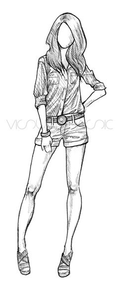 Girl Drawing – 75 Picture Ideas – Drawing Ideas and Tutorials Girl Drawing Sketches, Dress Sketches, Girl Sketch, Art Drawings Sketches Simple, Pencil Art Drawings, Cool Drawings, Drawing Art, Drawing Tips, Drawing Ideas