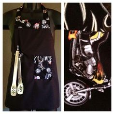 Little kids black apron w motorcycle accents http://www.jsaprons.com/
