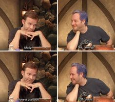 Liam being Jester for Laura who was out. Molly's inquisition, episode 14. The Mighty Nein. Critical Role.