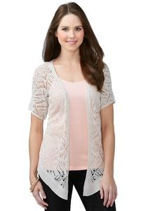 Crochet Cardigan from Cato! This is a lightweight beautiful addition to the wardrobe in any season!!