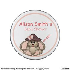 Adorable Bunny, Mommy-to-Be Baby Shower Jelly Belly Tins
