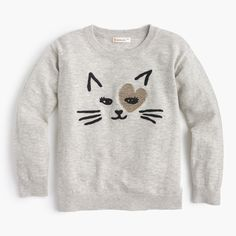 This light cotton popover is a purrfect pick for school days (and Saturdays, and Sundays...) . Cotton. Hand wash. Import.