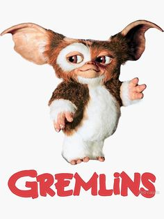 """""""Gremlins - Gizmo"""" Stickers by red-rawlo 2560x1440 Wallpaper, Gremlins Gizmo, Photo Collage Maker, Sculpture Lessons, Creature Design, Movies Showing, Little Pony, Rock Art, Horror Movies"""