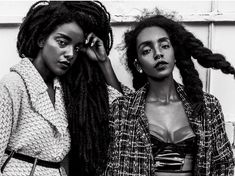 Double the manes, double the drama! We <3 TK Wonder and Cipriana Quann's full, dramatic hairstyles! #manespiration