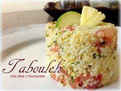 Ya se lo que quiero.: Tabouleh con Piña y Pistachos.