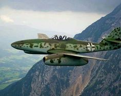 ME-262. The first combat jet fighter. Chuck Yeager was the first to shoot one down.
