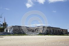 The Island of Mozambique (Portuguese: Ilha de Moçambique) lies off northern Mozambique, between the Mozambique Channel and Mossuril Bay, and is part of Nampula Province Old Building, Portuguese, Channel, Island, Stock Photos, Landscape, Image, Beautiful, Block Island