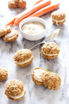Carrot Cake Sandwich Cookies | These cookies are perfect for anyone who loves carrot cake!