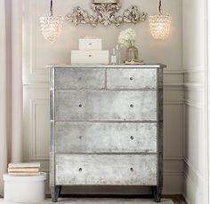 antique style mirrored dresser
