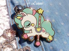 emaille chique unicorn magische taart pinnen kawaii kawaii pin