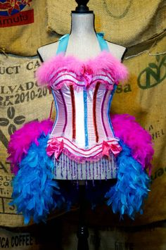 GYPSY ROSE Ringmaster Costume Circus dress Burlesque outfit with feather bustle Large & XL sizes Burlesque Outfit, Burlesque Corset, Corset Outfit, Corset Dresses, Prom Dress, Ringmaster Costume, Circus Costume, Gypsy Costume, Corset Costumes