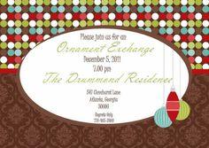 ornament exchange invitations