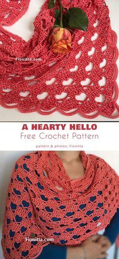 Crochet Mittens Free Pattern, Crochet Shawl Free, Gilet Crochet, Crochet Shawls And Wraps, Crochet Scarves, Crochet Clothes, Crochet Stitches, Crochet Patterns, Crochet Vests