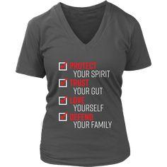 The Pledge - Protect Trust Love Defend Women's V-Neck T-shirt