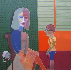 Larga distancia, 2006 (Óleo sobre tela) 170 x 170 cm.