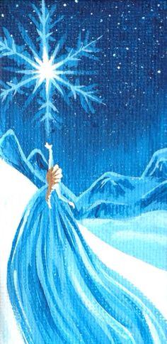 ღ❤️Turquoise lovely color❤️ღ Disney Frozen Painting Let It Go by SavannaRodriguez Frozen Painting, Painting For Kids, Painting & Drawing, Disney Paintings, Canvas Art, Painting Canvas, Canvas Ideas, Disney Kunst, Disney Frozen