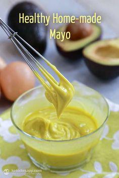 Healthy Homemade Mayo - Three Ways Banting Recipes, Ketogenic Recipes, Low Carb Recipes, Real Food Recipes, Paleo Recipes, Cooking Recipes, Low Carb Sauces, Low Carb Keto, Good Food