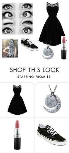 """""""Dressy Outfit"""" by weirdo-juan-oh-juan on Polyvore featuring MAC Cosmetics and Vans"""