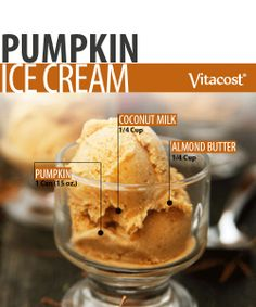 Pumpkin Ice Cream - gluten free and dairy free - this healthy soft serve ice cream recipe also doubles as a fabulous milkshake recipe. Enjoy!!!