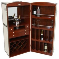 Steamer Trunk Bar...totally going to do this to my lastest trunk