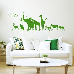Safari Walk Animal Wall Sticker – The Wobbling Duck Ltd Safari Room Decor, Diy Design, Design Trends, Safari Animals, Cool House Designs, Nursery Themes, Wall Tiles, Color Splash, Kids Bedroom