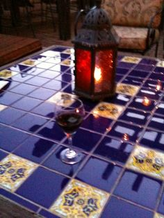 Tile Tabletop--broken table project