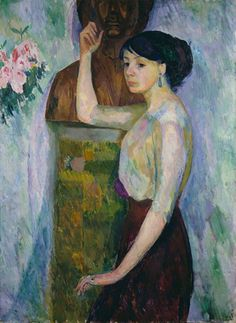 Portrait of  Louise Ise Morssing  -   Grünewald, Isaac , 1910    French,1889-1946