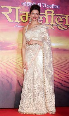 deepika padukone usado diseñador sari con bordados faboulus hilo de trabajo todo sobre él srq2607-Ropa de India y Pakistán-Identificación del producto:180825328-spanish.alibaba.com