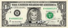 AMY POEHLER - Real Dollar Bill Cash Money Collectible Memorabilia Celebrity Novelty Bank Note by Vincent-the-Artist, $7.77 USD