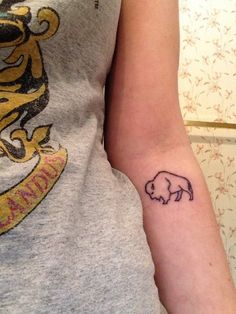 Buffalo Tattoo - perfect balance between simplicity and detail