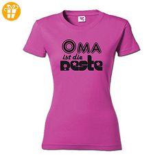 Oma ist die Beste Damen T-Shirt (078.326) (2XL, Shirt pink / Druck schwarz) - Shirts mit spruch (*Partner-Link)