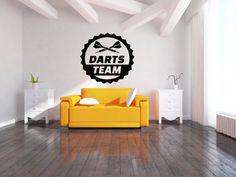 Wall Vinyl Sticker Decals Mural Room Design Pattern Art Decor Darts Sport Arrow Target Aim Game Play Team mi161 by RoomDecalsAndDesigns on Etsy
