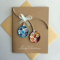 Items similar to Quilled Holiday Cards (set of on Etsy Quilling Christmas, Diy Christmas Cards, Holiday Greeting Cards, Xmas Cards, Christmas Crafts, Paper Quilling Cards, Quilled Paper Art, Paper Quilling Designs, Quilling Patterns