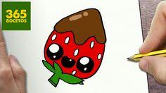COMO DIBUJAR FRESA KAWAII PASO A PASO - Dibujos kawaii faciles - How to ...