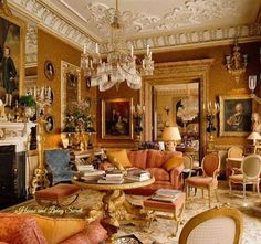 Traditional, eclectic, antique filled sitting room.