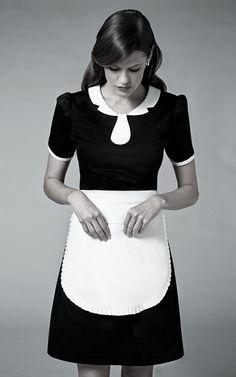 Double flap collar top Skirt pant Apron