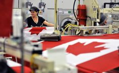 After each flag is cut, Angie Bonsant at Flags Unlimited in Barrie collects the flags in groups of 25 to be distributed to a network of local home seamsters. Canadian Flags, National Symbols, News Stories, Great Photos, Life