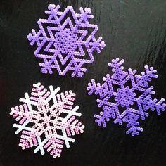 Snowflakes hama beads by pindaa1988