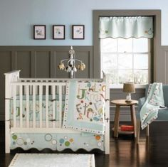 baby boy nursery - gray with blue - but there is no way I'll be able to convince rob to do all that wall work.