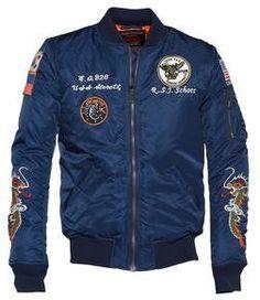 db9e543fc0b 9629 - Men s Nylon Flight Jacket With Patches