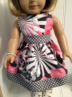 American Girl Doll Clothes Shades of Pink by NanaDorysCreations, 14.00
