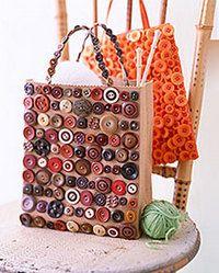 Decoración de bolsa con botones