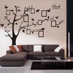 Decor Photo Frame Black Tree Removable Decal Room Wall Sticker Vinyl. Great to decorate walls. Family photos could be placed in the frames.