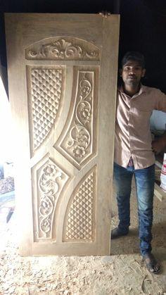 New Door Design, Door Design Photos, Single Door Design, Wooden Front Door Design, Room Door Design, Door Design Interior, Wooden Front Doors, Wood Carving Designs, Wood Carving Art