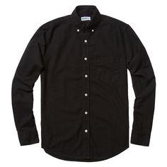 Black Perfect Oxford   Buck Mason