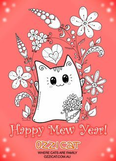 Happy Mew Year!!! <3 <3 <3 Best #gist for #cat lover: Subscribe to Ozzi Cat Magazine! >> http://OzziCat.com.au/issues