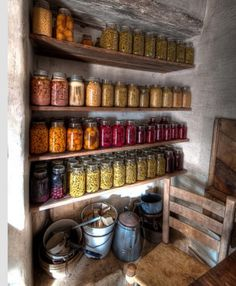 Preserved fruits and vegies...to keep you going during winter when these things were not available...before freezing