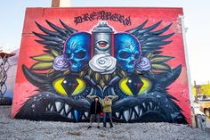 Jeff Soto - Dreamers- Detroit Soto and Maxx242's collaboration mural for Murals in the Market, 2015.